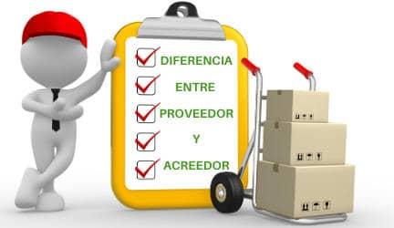 diferencia entre proveedor y acreedor