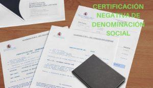 certificado denominación social
