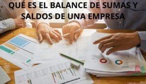 balance de sumas y saldos