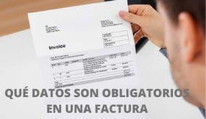 datos obligatorios en una factura
