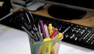 contabilizar material de oficina